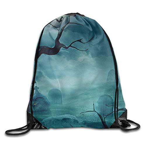 Beatybag 3D Print Drawstring Bags Bulk, 2017 Halloween Print Drawstring Backpack Rucksack Shoulder Bags Sports Portable Bag -