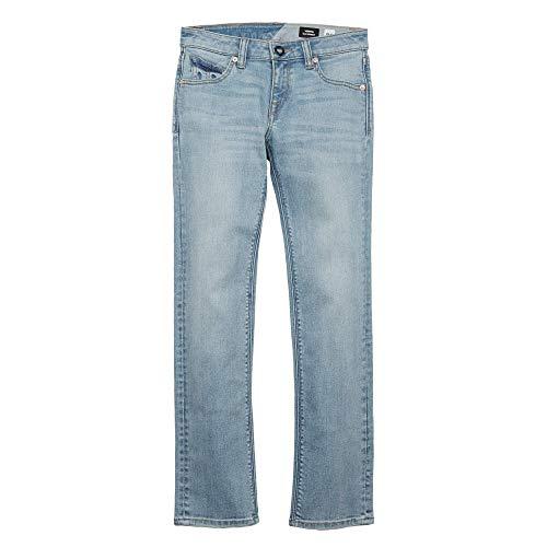 Volcom Big Boys' Vorta Jeans, Allover Stone Light, 27 by Volcom