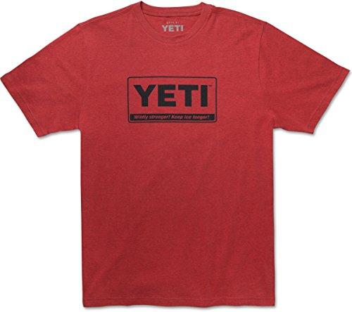 YETI Men's Triblend Billboard Logo T-Shirt, Short Sleeve, Small, Brick Red ()