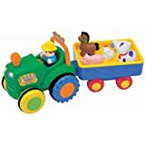 Kiddieland Farm Tractor with Trailer - Sing a Long Songs, Animal Sounds, Motorised Tractor - Includes Farmer & 5 Animals! 12Months +