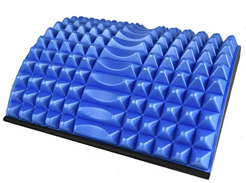 CalCore Lumbar Back Stretcher with Acupressure Nubs for PT and Lower Back Relief (Blue)