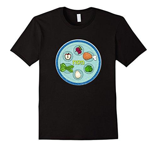 Men's Passover Seder Plate Shirt- Holiday Distress Design...
