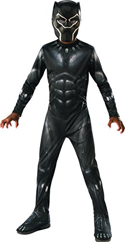 Rubie's Black Panther Child's Costume, Black/Grey,