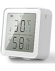 Ctzrzyt Tuya WiFi temperatur- och fuktighetssensor inomhus hygrometer termometer med LCD-display stöd Alexa Assistant
