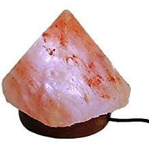"""Pyramid Shape Salt Lamp Himalayan with USB Plug Natural Himalayan Rock Hand Made 3"""" Monochrome"""