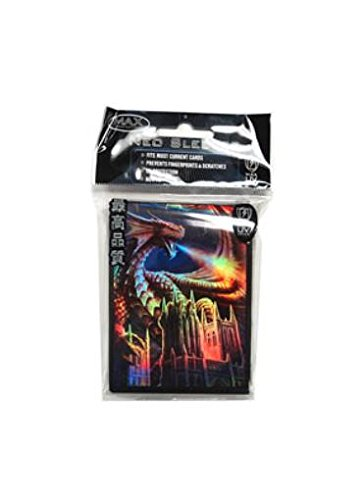YuGiOh MAX Protection Gaming Card Sleeves Dragon Fury 50 Count ()
