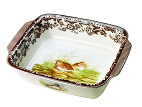 Spode Woodland Quail and Mallard Rectangular Handled Dish
