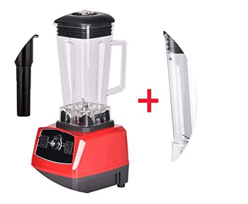 3Hp 2200W Heavy Duty Commercial Grade Blender Mixer Juicer High Power Food Processor Ice Smoothie Bar Fruit Blender,Red Extra 2L Jar,Ukraine,Eu Plug