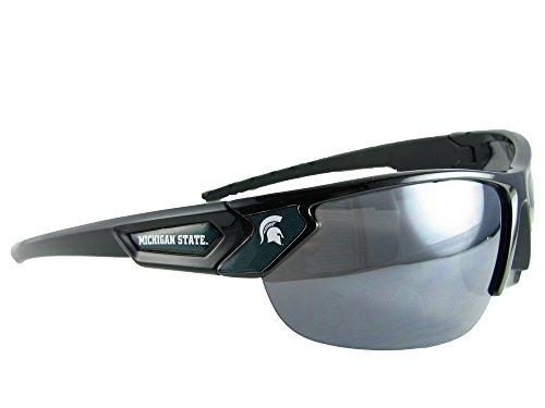 Michigan State Spartans Black Green Mens Womens Sport Sunglasses MSU Gift -