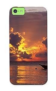 Stylishgojkqt High Grade Flexible PC Case For Iphone 5c - Sunrise Africa Kenya Beaches ( Best Gift Choice For Thanksgiving Day)