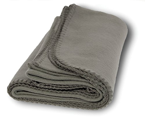Fleece Stadium Blanket - US Quality Super Soft Cozy Fleece Throw Blankets for Beds, Travel, House and Pets (Mineral Gray)