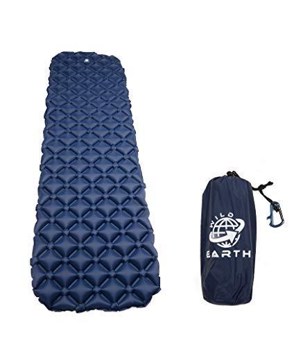 Wild Earth Ultra Ligero hinchable colchoneta con almohada, saco de ...