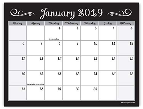 Guajolote Prints 2019-2020 Magnetic Monthly Calendar Pad for Refrigerator - 7.25 x 10 inches - 25 Months, from December 2018, to December 2020 ()