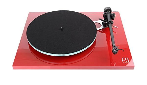Rega Tocadiscos Hi-Fi Planar 3 rojo lacado (sin célula): Amazon.es ...