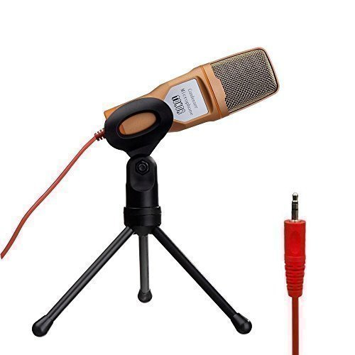TONOR Professional Condenser Sound Podcast Studio Microphone for PC Laptop Computer Gold