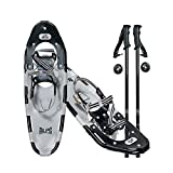 "ALPS Xtreme Light Weight Adult Snowshoes Set with Pole and Carrying Tote for Men and Women 21""/25""/30"""