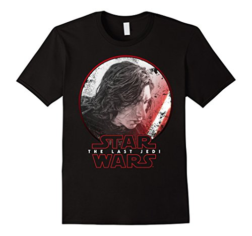 Mens Star Wars Last Jedi Kylo Ren Sketch Portrait Graphic T-Shirt XL Black