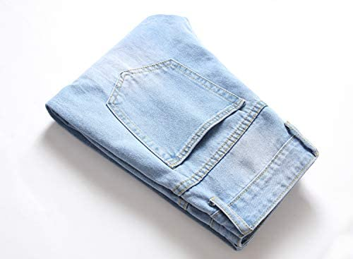 41C62XEej2L. AC VOEERON Men's Distressed Ripped Jeans, Relaxed Slim Regular Straight Fit Denim Pants    ImportedZipper closureMachine WashTrendy ripped distressed design, let you have a high-end fashion lookSoft cotton material comfortable and skin friendly breathable and durableSlim straight leg classic fit 5 pockets design more styling ideas