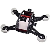 Usmile 108mm Half Carbon Fiber Half Glass Fiber Quadcopter Frame Kit with 2 in1 Buzzer LED for Micro FPV racing Support for 1102 1104 7500KV Brushless Motor Piko BLX PB F3 FX798t 60mm Props