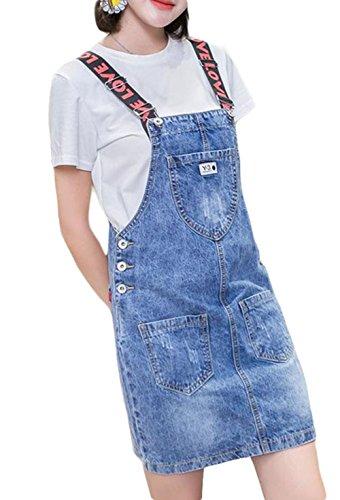 フレッシュ旅行者チューリップBSCOOLレディース サロペット デニムスカート ゆったり オーバーオール ストリート ファッション オールインワン ファッション