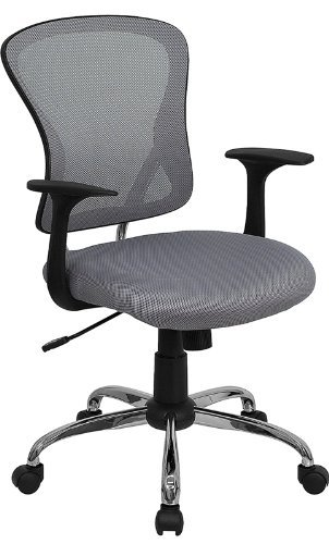 Amazoncom Flash Furniture Mid Back Gray Mesh Swivel Task Chair