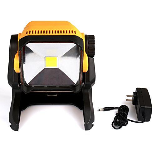 LED Work Light Battery Powered - Enegitech 20W 2800LM 4000K LED Working Light Powered by Cordless Tool Battery and DC Adapter, Multiple Mount for Jobsite, Workshop, Construction Site by Enegitech (Image #5)