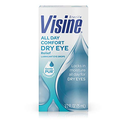(Visine All Day Comfort Dry Eye Relief Eye Drops for Up to 10 Hrs of Comfort, 0.5 fl. oz)