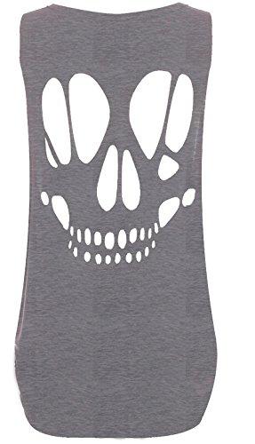 Fashion & Freedom - Camiseta sin mangas - para mujer gris