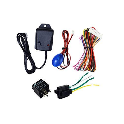 DirkFigge Doublele//1 Set Sistema di Allarme Universale di Sicurezza per Auto antifurto con Telecomando 12V