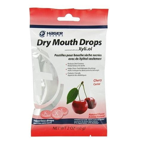Hager Pharma Dry Mouth Drops with Xylitol, Cherry 2 oz ( Pack of 3) by Miradent (Image #1)