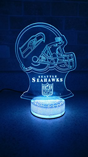 Seattle Seahawks 3D LED Night Light 7 Color ()