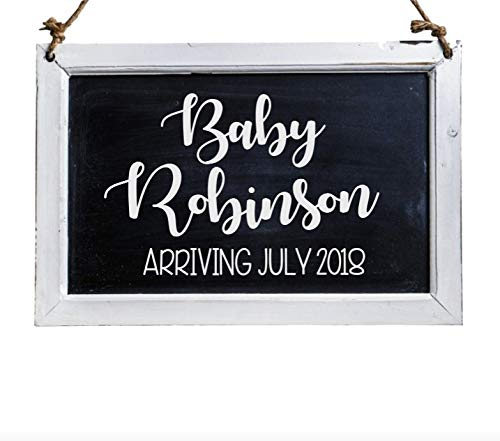 CELYCASY Pregnancy Announcement Decal, Baby Announcement for Christmas Ornament, Wood Sign and More