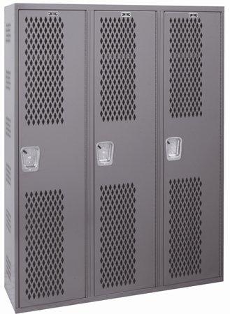 (Hallowell, All Welded Single Tier Lockers - Three Columns Wide, Lkr-Wld-1T3W121272, W X D X H: 12 X 12 X 72, Weight: 252, Number Of Openings: 3, Hwba212-111)