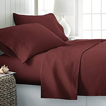 1000 Thread Count Egyptian Cotton Sheet Set//Duvet//Fitted UK-King Size Red Solid