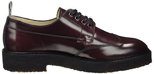Rouge Marc Lace Brogues O'Polo Femme Shoe Up 70814263401112 Bordeaux wgCZqw0