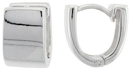 Sterling Silver Huggies Earrings U shaped