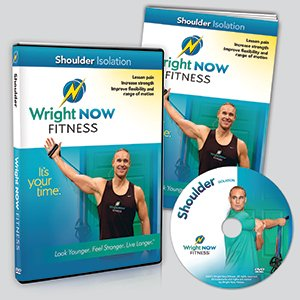 Shoulder Isolation Exercise and Stretch Workout DVD to Lessen Pain, Increase Strength, Improve Flexibility and Range of Motion with Aaron Wright