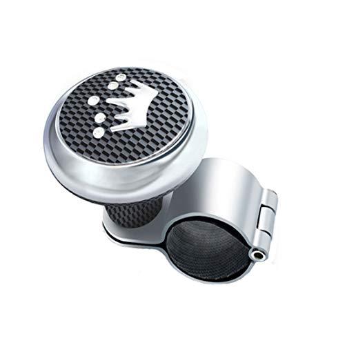 AMOUTOR Steering Wheel Spinner, Carbon Fiber Steering Wheel Knob Crown Pattern Maneuvering Handle - Flexible Control