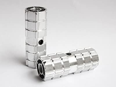 Smooth Silver Aluminum Alloy Foot Axle Stunt Bike Peg for BMX Bikes 3/8'' (Kid-Size)