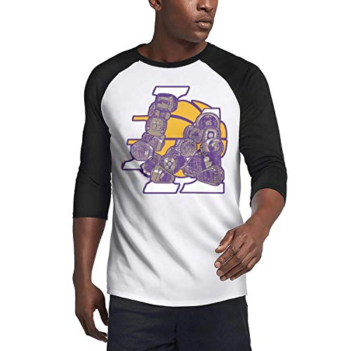 (FPFLY Champions-and-LA- Mens Guys Casual O-Neck Baseball 3/4 Sleeve Raglan Henley T-Shirts Tee)