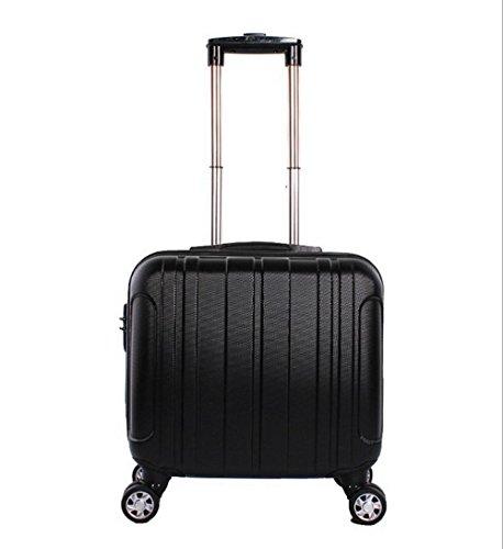 Xiuxiandianju 17 pulgadas de negocios ordenador caso embarque equipaje de hombres y de mujeres ruedas ABS contraseña bolsas viaje maletines (20L) , silver Black
