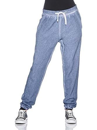 Urban Classics Ladies Spray Dye Sweatpant TB459 , color:denim blue;size:XS