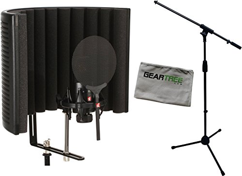 SE Electronics X1SSB X1S Studio Bundle with Shock Mount, Pop Filter, RF X Reflexion Filter, Cable, Geartree Cloth and Mic (Electronic Music Studio)