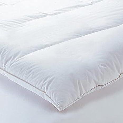 Linens Limited - Edredón de Plumas y plumón de Ganso colchón Topper, Doble: Amazon.es: Hogar