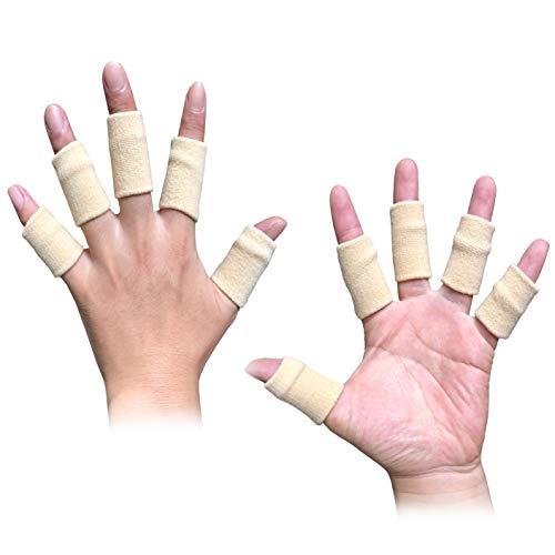 Busy Mom 10pcs Summer Finger Sleeves Sport Elastic Arthritis Trigger Braces Knuckle Compression Protector Prevent Calluses(Skin) ()