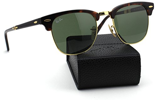 Ray-Ban RB2176 990 Folding Clubmaster Tortoise Frame / Classic Green Lens - Ray School Old Ban