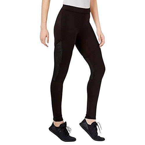 HUE Women's Moto Mesh Active Leggings, Black (XL)
