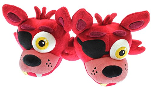 Five Nights at Freddy's Foxy Character Slippers with Memory Foam Insoles (X-Large) Red -