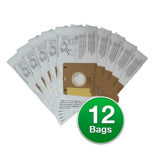 EnviroCare Replacement Vacuum Bags for Eureka Style T 970 980 Canisters (12)