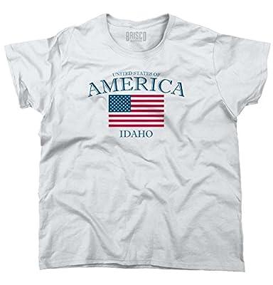 Idaho State Patriotic Gift Ideas American USA T Shirt Flag Ladies T Shirt